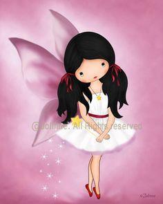 "Childrens room art, canvas print, angel fairy wall decor , Pink room decor, girls room wall art, nursery art, ready to hang, 12""x12"". $49.00, via Etsy."