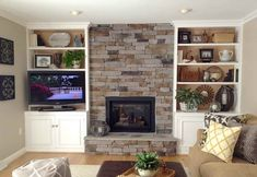 Cabinets & Shelving:Diy Built In Bookcase With Fireplace DIY Built in Bookcase