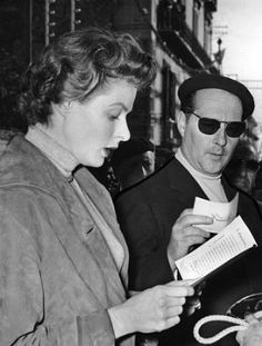 Ingrid Bergman & Roberto Rossellini #RobertoRossellini #Rossellini #director #neorealism #italian #neorealismo #cinema #movie #regista #IngridBergman #Bergman #Isabella