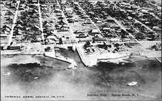 Ocean Beach aerial view, ca. Fire Island, Island Girl, Ocean Beach, Aerial View, City Photo, History, 1930s, Vintage, Historia