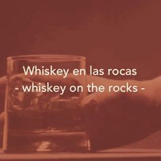 #learnspanish #whiskey #alcoholics #ontherocks #enlasrocas #enespañol