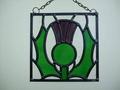 Thistle Leaded Glass Panel by Claire Seely Glass design at Folksy.com