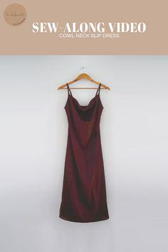 Clothes Crafts, Sewing Clothes, Satin Slip, Satin Fabric, Diy Clothes Design, Dress Sewing Patterns, Diy Dress, Diy Fashion, Marie