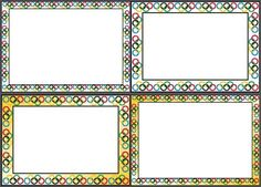 Free Olympic Page borders, unlined.  4 simple borders in two colours. (stationary)