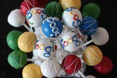 Google Themed Logo Cake pops