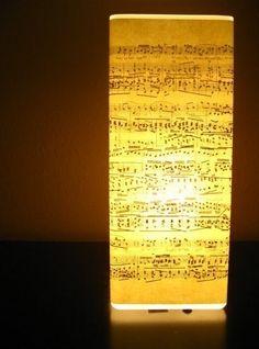 Sheet music lamp