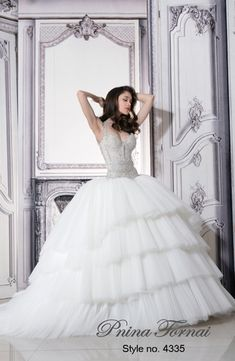Sweetheart Princess/Ball Gown Wedding Dress  with Dropped Waist in Tulle. Bridal Gown Style Number:33005257