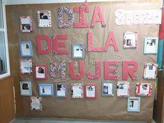 Una mujer que ha marcado mi vida. Mural. 8 de Marzo. Día de la  Mujer. IES Huerta Alta Calendar, Holiday Decor, Working Woman, Women In History, School Murals, Kids Education, Equality, Vegetable Garden, Menu Calendar