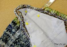 Φόδρα σε πλεκτή τσάντα You made your knit bag and now you're looking at it and wondering how to put it on . All you have to do is choose a fabric that suits you an Macrame Bag, Knitted Bags, Gym Bag, Knitwear, Pouch, Make It Yourself, Sewing, Knitting, Fabric