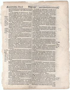 10: A testament of faith: a leaf from a copy of the first American Bible translated into the language of the Algonquian Indians by John Eliot and printed at Cambridge in New England in the year 1663;   God's name, Jehovah, is accurately translated throughout this Bible.