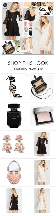 """Upgrade your Chic - Gozon 5"" by anyasdesigns ❤ liked on Polyvore featuring Gianvito Rossi, J.Crew, Elie Saab, Burberry, Oscar de la Renta and Too Faced Cosmetics"
