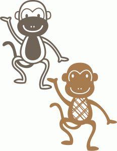 Silhouette Design Store - View Design #41589: monkeys