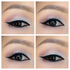 Old Hollywood, retro, glamour-inspired eye makeup. (modified for monolids)