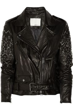 3.1 Phillip Lim | Embellished leather biker jacket | NET-A-PORTER.COM