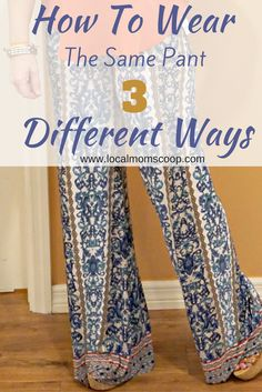 How To Wear The Same Pant 3 Different Ways From Apricot Lane - Local Mom Scoop - http://www.localmomscoop.com/how-to-wear-the-same-pants-3-different-ways/