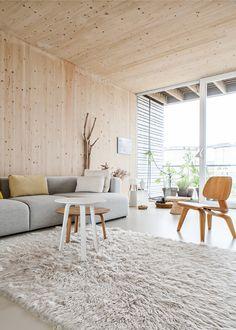 living room sections Living Room Bedroom, Living Room Decor, Polished Concrete Tiles, Modern Vintage Decor, Pastel Home Decor, Interior Styling, Interior Design, Pastel House, Natural Interior