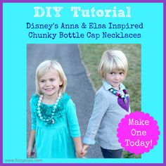 I designed two new necklaces. . . Anna and Elsa from Disney's Frozen. Want to make one! Visit www.fizzypops.com for an easy tutorial and great product!