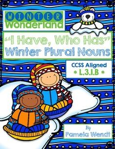 $ Fun, Common Core Aligned activity provides valuable practice forming regular and irregular plural nouns while giving your students a purposeful reason to be up and out of their seats during this very wiggly time of year!  35 game cards feature winter clip art and seasonal text.
