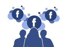 postar no facebook tres pessoas observando