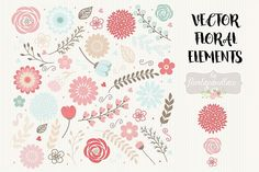 Vector Flowers clipart Graphics wedding clipart, shabby chic clipart, Hand Drawn clipart, wedding clipart, flower clipart by burlapandlace Rustic Flowers, Vintage Flowers, Red Flowers, Vector Flowers, Flower Clipart, Floral Illustrations, Pencil Illustration, Clip Art Vintage, Teal Coral