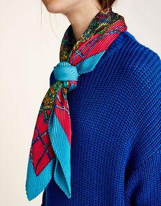 072727cf8d4e 42 mejores imágenes de pañuelos y bufandas   Bufandas, Bufanda larga ...