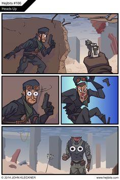 Juego de Disparos en Primera Persona. Uno de los géneros más pujantes de los videojuegos en la actualidad.  http://tvtropes.org/Main/FirstPersonShooter  www.hejibits.com