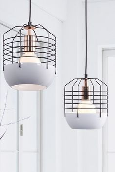 Chill White & Black Ceiling Lamp by Zuo Modern on @HauteLook