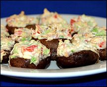 Crazy-Creamy Crab-Stuffed Mushrooms 3 Weight Watchers Points+ for 12