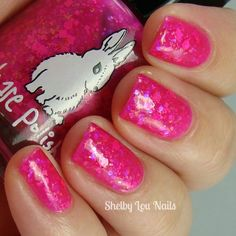Shelby Lou Nails - Hare Polish - For the Love of Lisa - Indie nail polish inspired by Lisa Frank