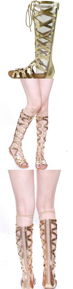 Criss Cross Lace Up Gladiator Sandals! Click The Image To Buy It Now or Tag Someone You Want To Buy This For. #GladiatorSandals