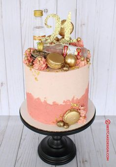 50 Most Beautiful looking Vodka Cake Design that you can make or get it made on the coming birthday. Alcohol Birthday Cake, 21st Bday Cake, 22nd Birthday Cakes, Alcohol Cake, Elegant Birthday Cakes, Special Birthday Cakes, 21st Birthday Decorations, Pretty Birthday Cakes, Birthday Beer