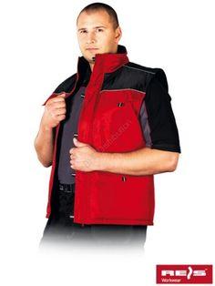 BEZRĘKAWNIK OCIEPLANY ARIZONA CZERWONY+CZARNY - INTERNETOWY SKLEP BHP - artykuły i sprzęt bhp, odzież robocza, środki ochrony indywidualnej