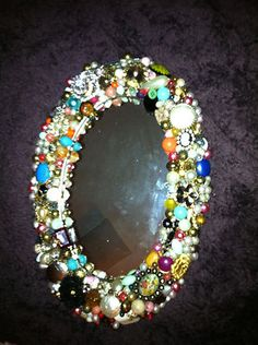 Mirror Frame W Antique Costume Jewelry Craft Ideas