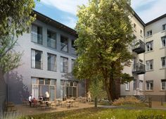 Nursing Home in Radomsko, Poland - concept design by Archimed Architecture, rendering