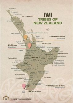 Maori iwi for the north island Maori Words, Map Of New Zealand, Maori Symbols, Maori Tribe, Nz History, Polynesian Art, Polynesian Culture, Maori People, Zealand Tattoo