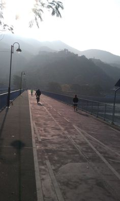 Jog in the mist.
