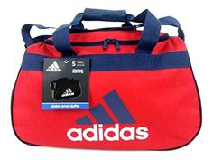 adidas Diablo Small II Duffel Bag University RedCollegiate Navy BlueWhite Gear Travel Tote -- More info could be found at the image url. (Note:Amazon affiliate link)