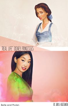 Jirka Väätäinen Real Life Disney Princesses #KaleidoDesignBlog #illustration #photomanipulation