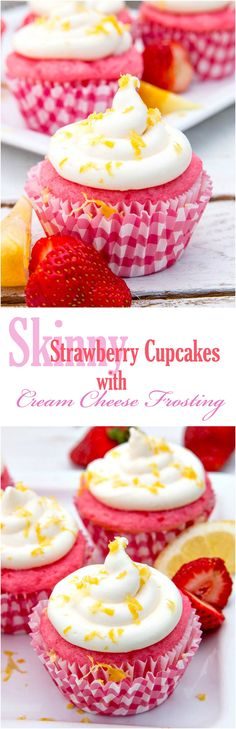 Skinny Strawberry Cupcakes are made with TWO ingredients.