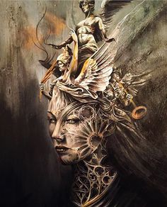 Beautiful painting in progress by Be sure to check out… Beautiful Dark Art, Beautiful Paintings, Tattoo Sleeve Designs, Sleeve Tattoos, Tattoo Sketches, Tattoo Drawings, Chest Tattoo Wings, Greek Mythology Tattoos, Desenho Tattoo
