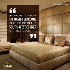 #VastuWednesday According to Vastu, the master bedrooms should be in the south-west corner of the house. http://www.ashar.in/ #AsharGroup #RealEstate #Thane