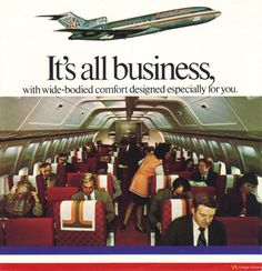 "vintage-airliners: "" American Airlines Ad, Circa 1970's www.facebook.com/VintageAirliners ✈ """