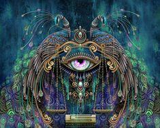 psychedelic digital art - This gorgeous collection of psychedelic digital art is by Boston, Massachusetts-based artist Chris Saunder. Chris has been a teacher at Art Center ...