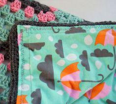 Rain drops crochet baby blanket granny square by ValkinThreads2, $68.00