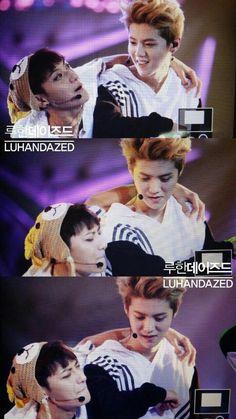 """#EXO #TAO #LUHAN Tao looks like """"NO DONT LEAVE ME TO KYUNGSOO."""""""