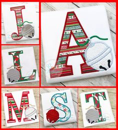 Polar Express Sleigh Bell Alphabet Applique embroidery design