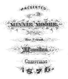 Free Printable - Christmas 1876 Typography