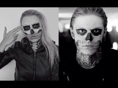 Gallery For > Tate Langdon Skull Makeup Tutorial