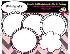 This Thought Bubbles & Doodles FREEBIE Clipart collection includes all the images shown in the sample picture and more. This pack includes 9 different clips:* thought bubble* circles with dots* circle badge with borderGraphics come in PNG format 300 dpi format.My graphics are suitable for printing and digital projects and can be easily re-sized smaller to suit other needs, graphics measure different sizes and can be resized.Original Artwork by Clipart 4 Teachers @ Doodle ArtDoodle Art