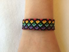 A personal favorite from my Etsy shop https://www.etsy.com/listing/220927870/rainbow-ombre-friendship-bracelet